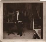 Emmanuel Cavacos. Unmarked and undated photo of in Emmanuel in his Paris studio