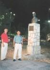 Takis Efsthaiou and Masaaki Noda on the island of Lefkada, in 1995.