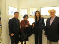 Masaaki Noda, Hisami Kuroiwa, Mrs Fassianos and Takis Efsthiou