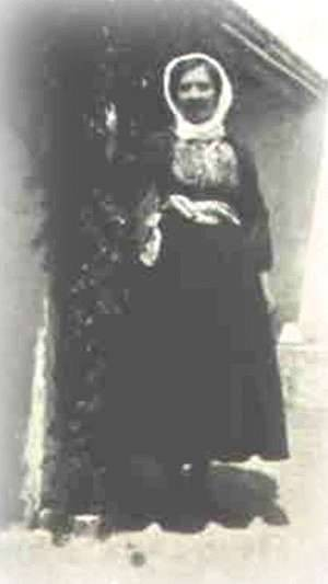 Australian woman (married to a Kytherian) dressed in a Greek national costume.
