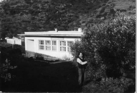Theothori Tzortzopoulos, outside the Patriko skolio, Karavas, 25 Feb, 1968.