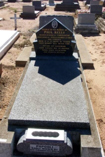 Paul Kelly. Gravesite. Gilgandra Cemetery.