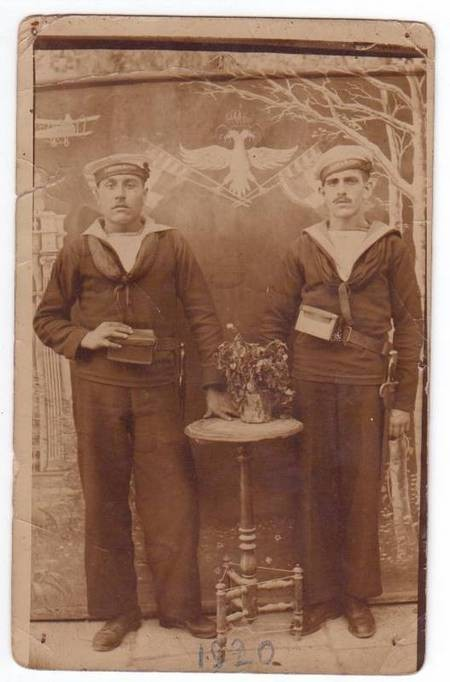 Theodore Comino and unknown  person