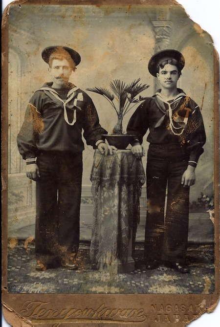 Two Kytherian sailors in Nagasaki, 1899
