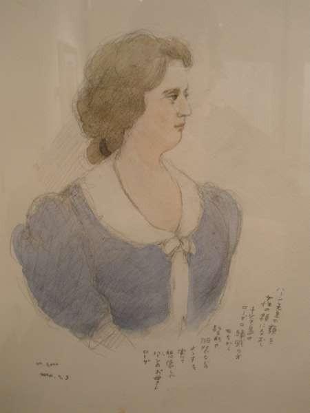 Mitsumasa Anno's portrait of Rosa Cassimati drawn from reminiscences