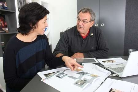 Jenni Klempfner of Convergence Associates with Roxy Museum Committee Member George C Poulos