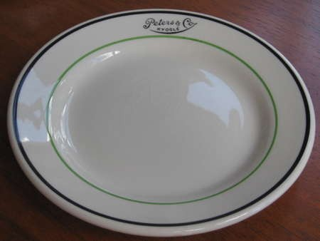 Plate from Peters & Co cafe at Kyogle