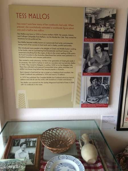 Panel and display dedicated to the late Tess Mallos