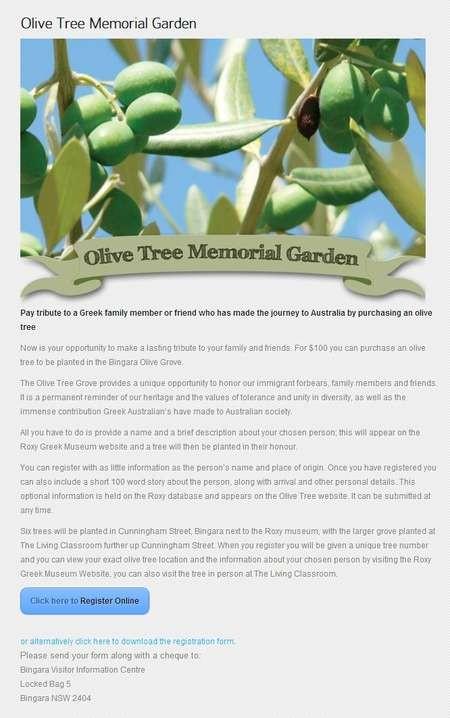 Olive Tree Memorial Garden