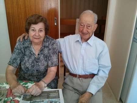 Emanuel Casimatis with his beloved wife Matina (nee Samios)