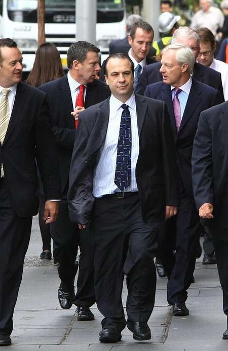 Peter V'landys - Racing NSW CEO Peter Vlandys arrives at the Federal Court in Sydney for the race fields legislation decision. Source News Limited