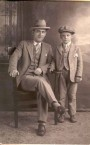 Alex Panaretos and son Theodore in the 1920's