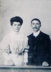 Spiros and Eleni Panaretos wedding photo, Kythera, 1906