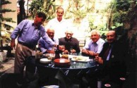 Dr. Steve Georgakis with original members of the Sydney Olympic Club (1945), Nick Marcells, Bill Psaltis, Leo Raftos, Con Mottee and George Stell.