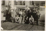 Passengers from Kythera on the SS Derna, 1948.