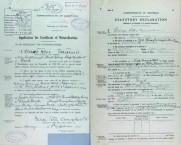 George Peter Vamvakaris Naturalization Application