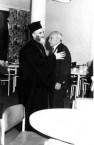 Nicholas Laurantus with the Bishop of Crete at Lourantos Village, 1977.