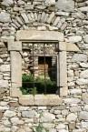 Windowframe old building at Agios Demetrios