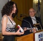 Eleutheria Arvanitaki accepting her award