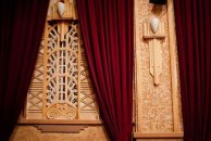 Art Deco fret work on the walls of the Roxy theatre, Bingara, NSW
