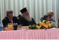 Consul of Greece, Vasilios Tollios, Metropoliti of Kythera, George Hatziplis and grandaughter
