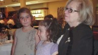 Mary Notaras (nee Kalokerinos) with two of her grandchildren, Elizabeth  & Alexandria