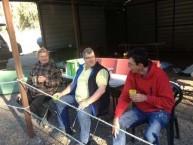 Three 4 Wheel Drivers, enjoying an early morning coffee