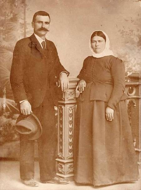 Nikolaos Stratigos & his wife.