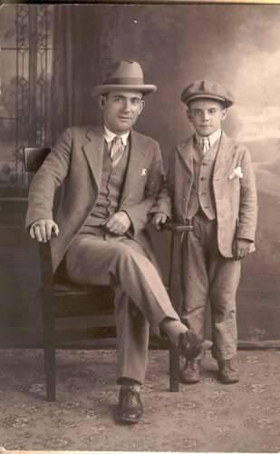 Alex Panaretos and son Theodore in the 1920's