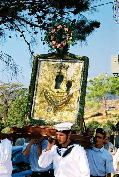 The procession of Panagia Myrtidiotissa