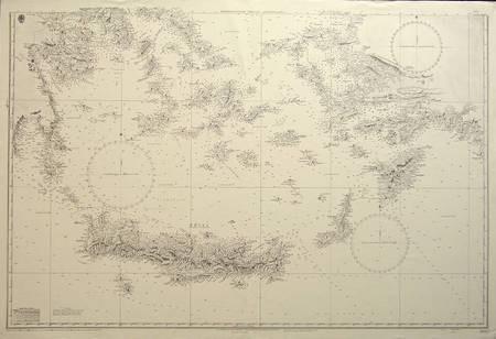 Grecian Archipelago - Mediterranean - BRITISH ADMIRALTY