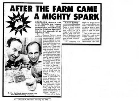 Newspaper article of brothers Angelo & John Notaras