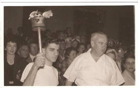 Peter Comino Olympic Torch 1956