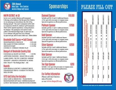 2010 AHEPA Golf Tournament Brochure