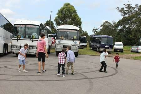 A large convoy of buses, from every major church in Sydney - 013 Saint Harry Thirteen