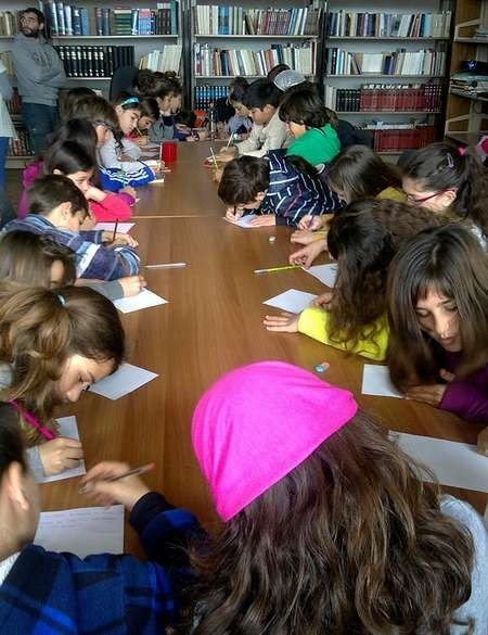 Children undertake many activities at the Library.