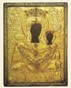 Picture of the original icon of Panagia Myrtidiotissa, Kythera