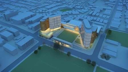An artist's impression of the planned development by Easts group