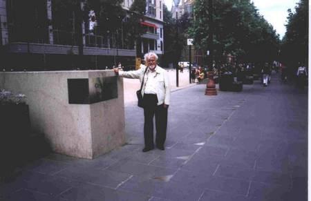 Petrochilos Visit to Australia creates media frenzy. - Petrochilos at Melbournes City Square