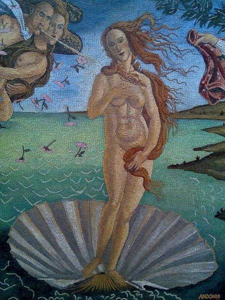 Birth of Venus mosaic by Andonis Georgopoulos - 019
