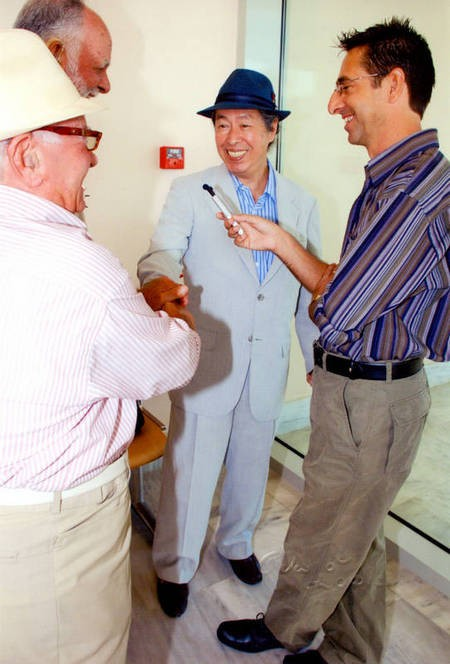 Sept 2008. (2) Toki Koizumi, the grandson of Lafcadio Hearn visits Kythera to pay homage to his grandparents. - Hearn003