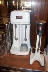 Paragon Cafe, Katoomba, NSW - original milkshake makers, metal milkshake containers, and sundae glasses - in situ, 2004