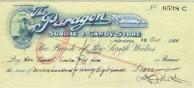 Paragon Cafe - Cheque.