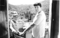 Petro and Shirley Amanda Coroneos. Karavas, Kythera, 1990.