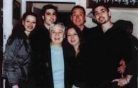 Maria Simos-Levounes with her grandchildren.