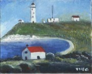 Theo Corones' painting of the Light House.