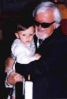 Nikos Petrochilos with his grandson Erricos Hatch.