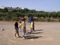 Despite the harshness of the soccer field terrain