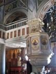 Magnificent interior of the Church of Ayios Haralmbos, Karavas.