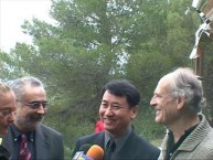 ECCD Director Christodoulis Yiallouridis, Massaaki Noda, and Takis Efstathiou at the Dedication